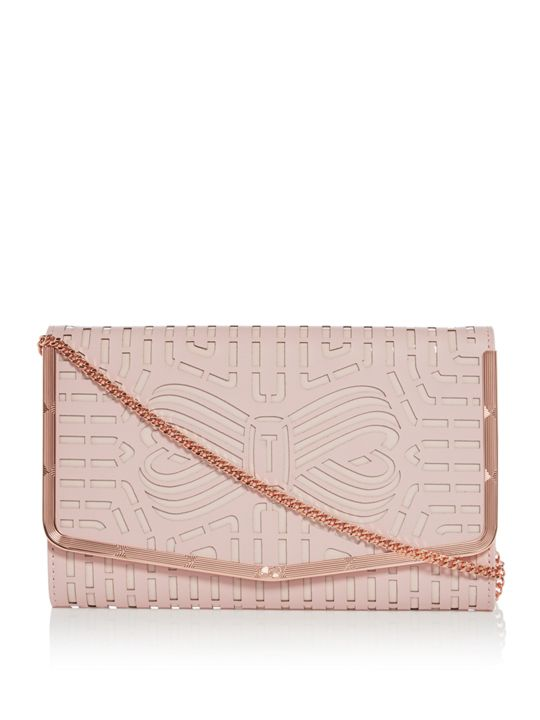 Bree Cut Out Bow Clutch Bag