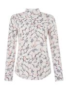 GANT Viole Orchide Floral Print Relaxed Fit Shirt