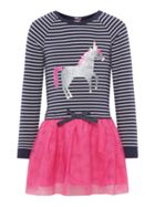 Joules Girls 2in1 Stripe Unicorn Tutu Dress
