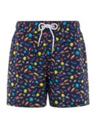 Men's Howick Photographic Fish Print Swim Shorts