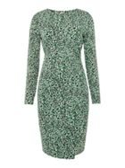 Michael Kors Reptile border wrap dress