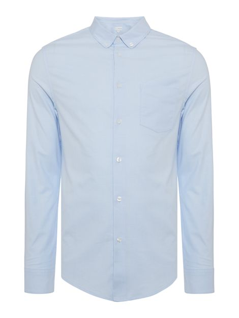Hanson Stretch Slim Fit Long Sleeve Oxford Shirt by Linea