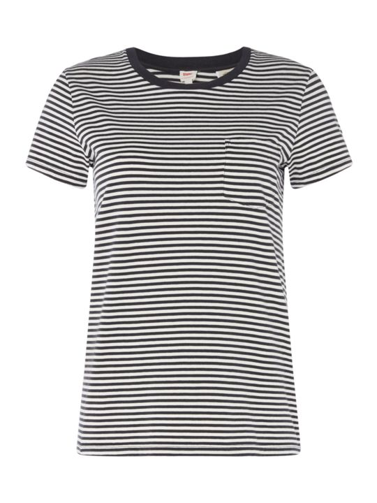 Levi's The Perfect Pocket Short Sleeve Striped T-shirt