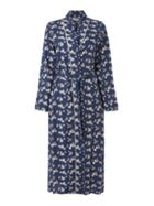 Nora Rose Floral Woven Wrap Robe