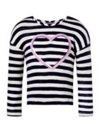 Joules Girls Sequin Heart Fringed T-Shirt