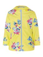 Joules Girls All Over Floral Rubber Coat