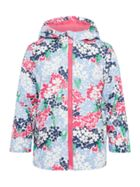 Joules Girls Animal Print Zip Up Coat