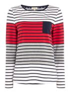 Barbour Selsey Striped Long Sleeve Top With Chest