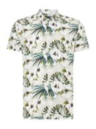 Men's Criminal Botanical Print Short Sleeve Shirt