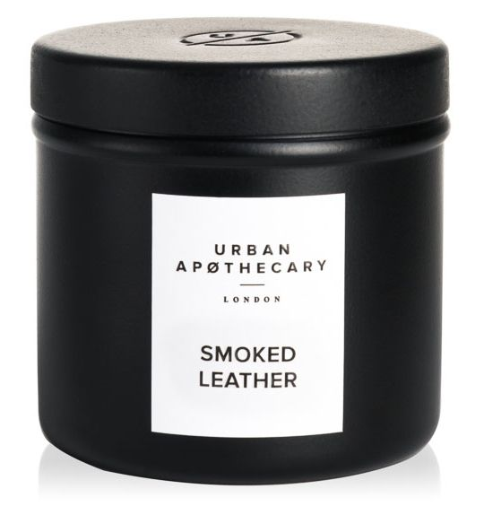 Urban Apothecary Smocked Leather Travel Tin Candle