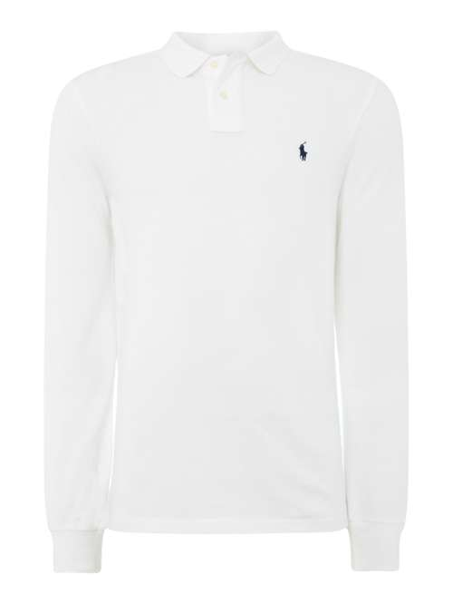 Polo Ralph Lauren Basic Mesh Long Sleeve Polo Shirt - House of Fraser c65bf6656a9b