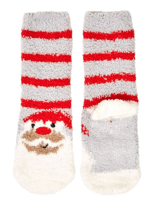 Totes Kids Santa and Reindeer Slipper Socks