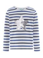Little Dickins & Jones Girls Sequin Star T-Shirt