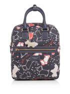 Radley Speckle dog medium ziptop backpack