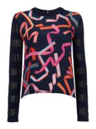 PS By Paul Smith Ribbon front knit jumper