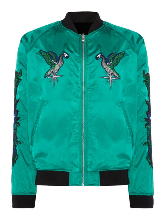 Diesel Embroidered Reversible Bomber Jacket
