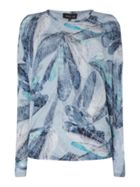 Label Lab Dragonfly print twist back knit and