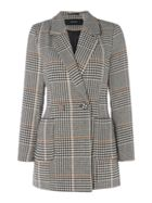 Vero Moda Trish Long Checked Button Up Blazer