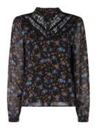 Vero Moda Rose Floral Long Sleeve Blouse With