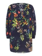Oui Tropical floral tunic