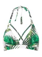 Biba White Jungle Front Cross Strap Bikini Top