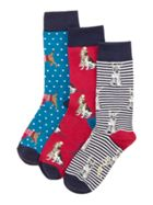 Joules Dog Cracking Socks 3 Pack
