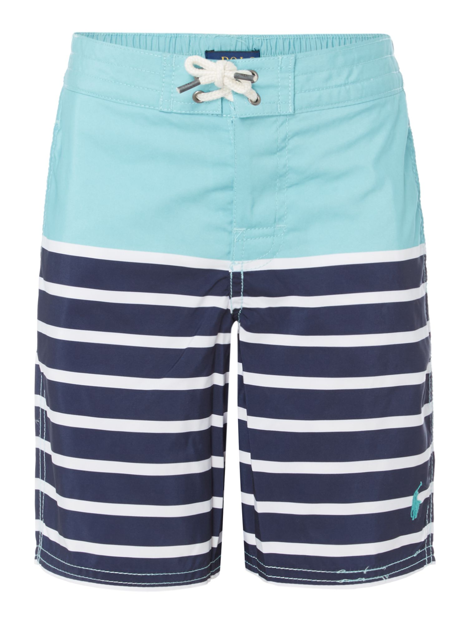 Polo Ralph Lauren Boys Small Pony Printed Stripe Swim Shorts ...
