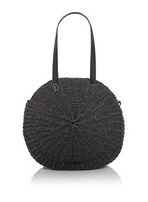 Label Lab Straw Round Bag