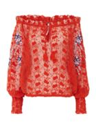Free People Jubilee Crochet Embroidered Long Sleeve