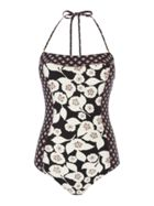 Kate Spade New York Bandeau printed one piece