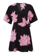 Vero Moda Frida Short Sleeve Floral Wrap Dress