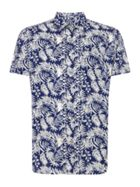 Men's Howick Leaf Print Short Sleeve Shirt