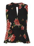 Guess Short sleeve rose printed blouse