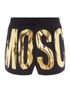 Men's Moschino Foil Logo Swim Shorts
