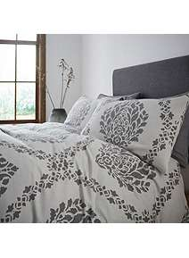 Gray Willow Hazel Jacquard Duvet Cover