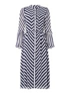 Michael Kors Bias stripe maxi dress