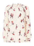 Second Female Birdie High Neck Blouse With Bird