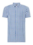Men's Howick Linen Blend Gingham Short Sleeve Shirt