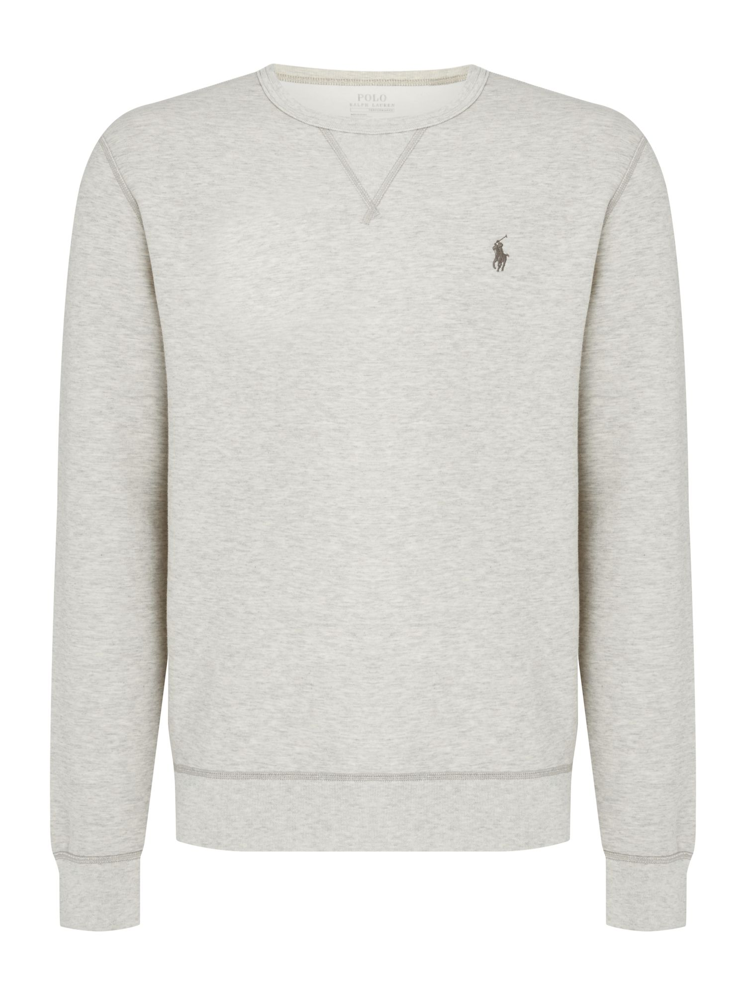 Polo Ralph Lauren Crew Neck Sweat With Heat Transfer Polo Player ...