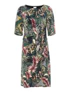 Linea Emily printed tie front dress