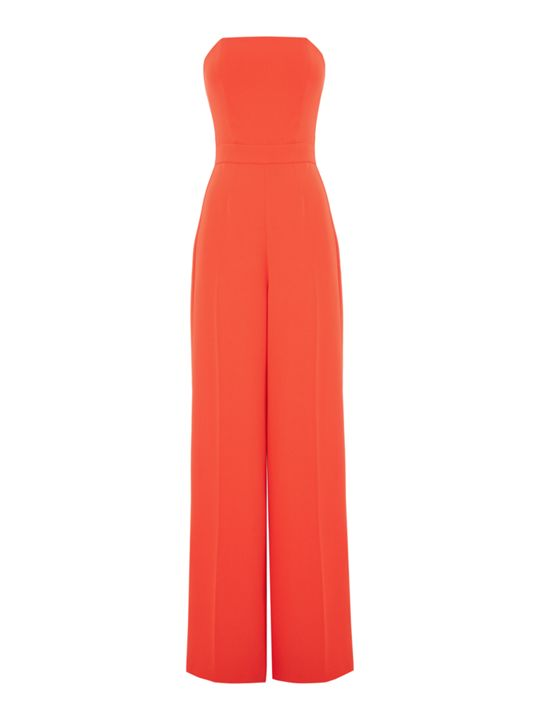 Outline Strapless Jumpsuit