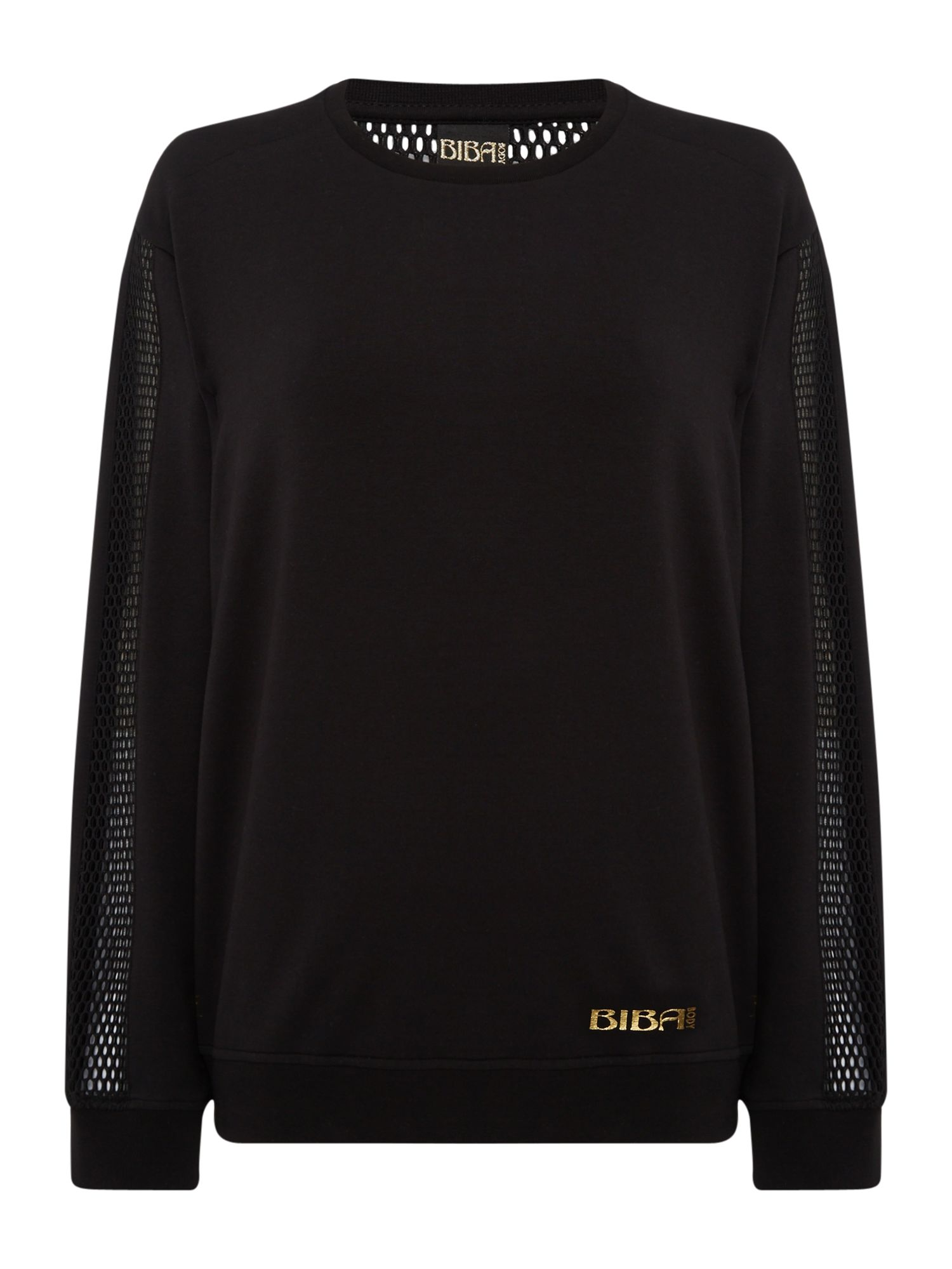 Mesh Panel Sweat Top by Biba