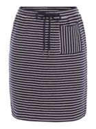 People Tree Striped Skirt With Tie Detail
