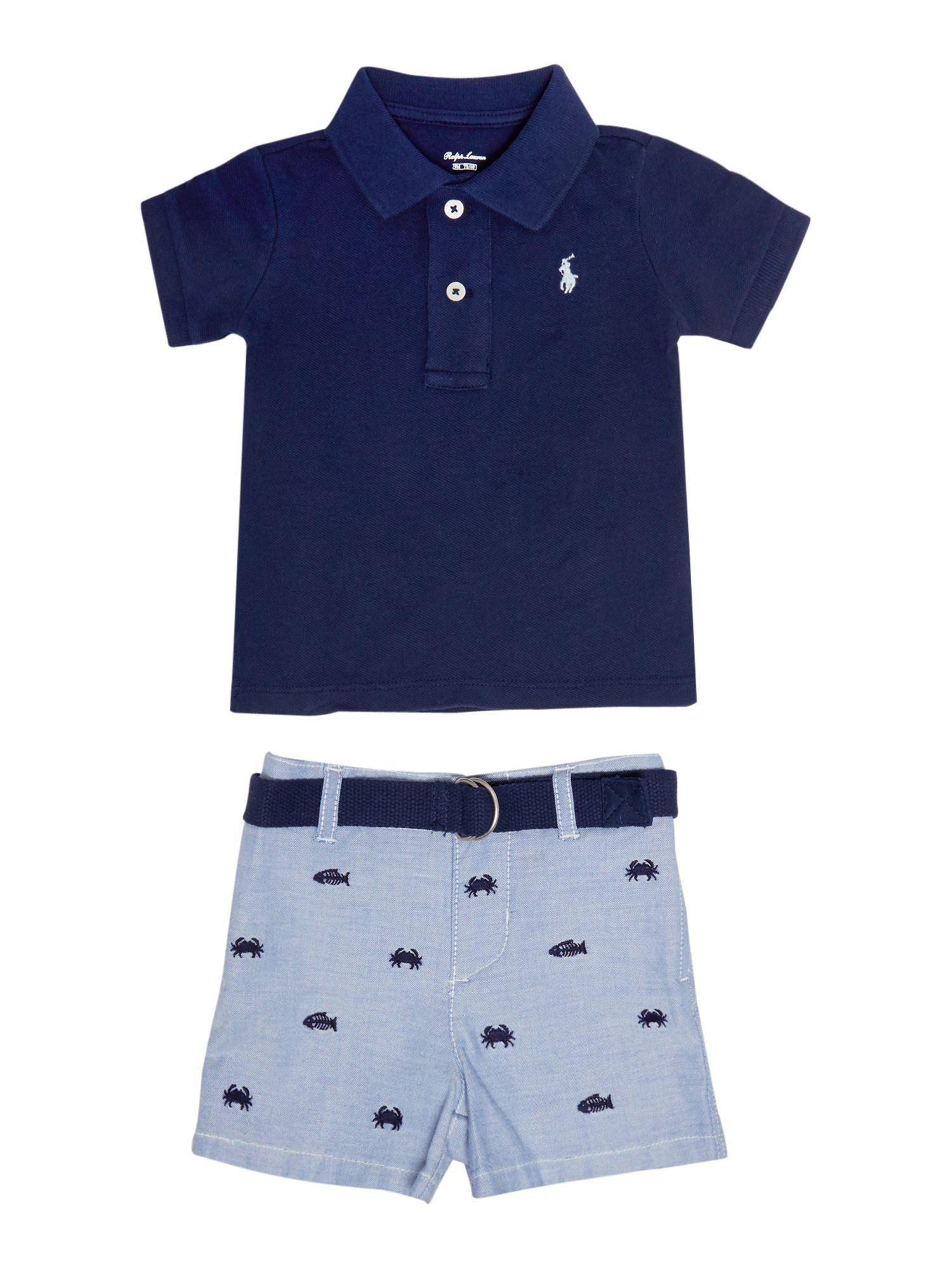 7520d81c7 Shoptagr | Baby Boys Small Pony Polo Shirt & Short Set by Polo Ralph ...