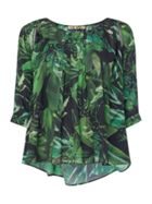 Biba Jungle printed volume blouse
