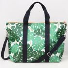 Caroline Gardner Tropical Leaf Foldable Weekend Bag
