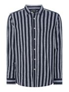 Men's Howick Linen Bold Stripe Long Sleeve Shirt