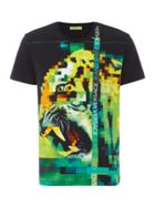Men's Versace Jeans Pixellated tiger digital print t-shirt