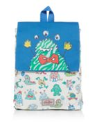 Cath Kidston Hippo and Friends Print Medium Backpack