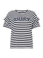 Juicy by Juicy Couture Short Sleeve Striped Logo